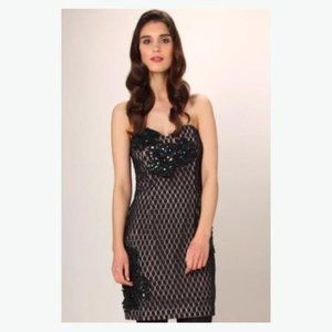 French Connection black lace cocktail dress